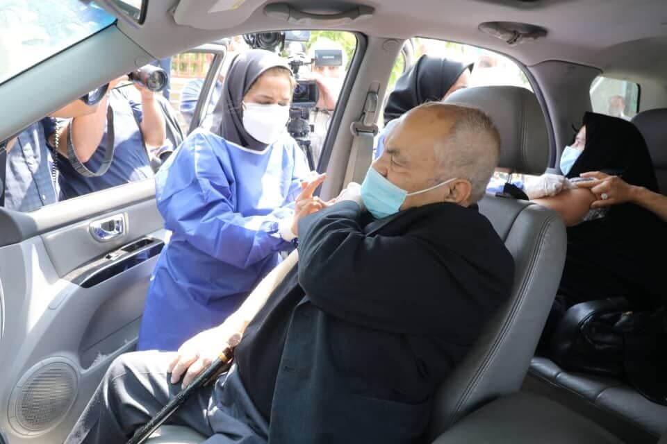 واکسیناسیون خودرویی کرونا در تهران